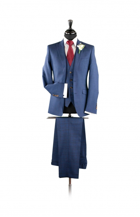 dapper-chaps-navy-fleck-lounge-suit-with-check-trouser-and-waistcoat
