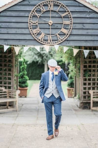 dapper-chaps-navy-blue-lounge-suit-silver-blue-tweed-waistcoat-and-matching-flat-cap